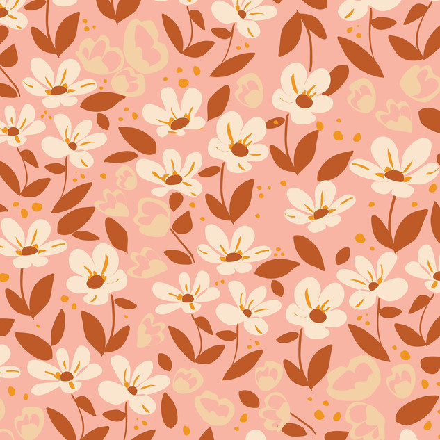 Abstract Windy Floral seamless vector pa