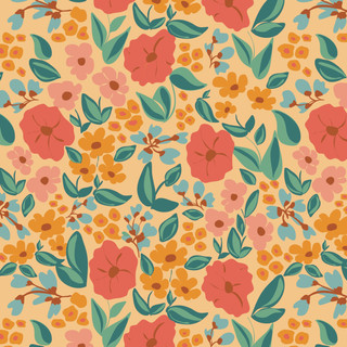 Delicious Florals seamless vector patter