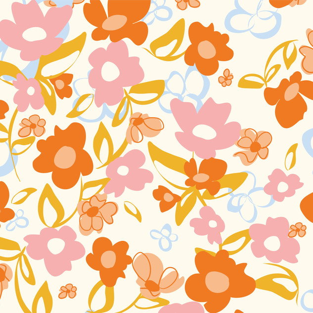 abstract Florals seamless vector pattern