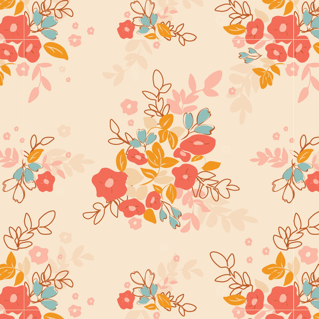 Vintage Bouquet Seamless vector pattern