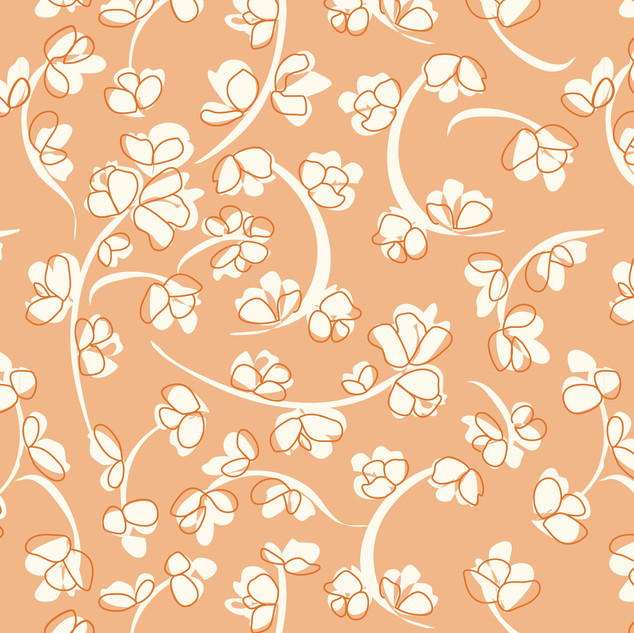 Abstract Floral Vine seamless vector pat