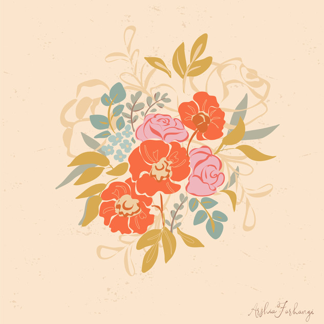 Poppy Boouquet Floral Vector Illustration.jpg