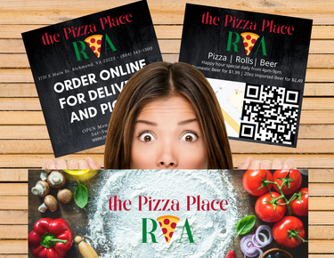 We designed The Pizza Place RVA Card flyers