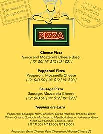 Medium Cheese Pizza Sauce and mozzarella