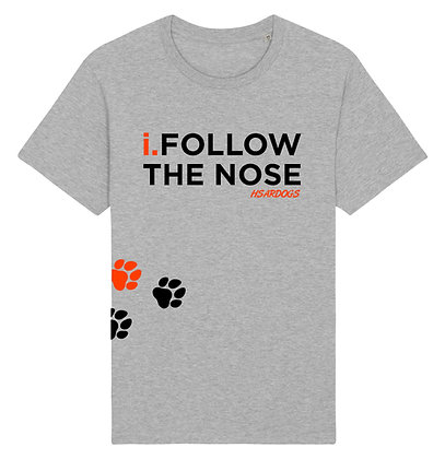 i.FOLLOW THE NOSE - HSARDOGS Light Grey | Unisex T-shirt