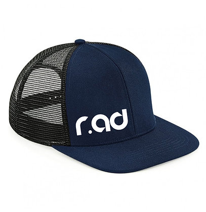 r.ad Flat Peak Trucker Cap