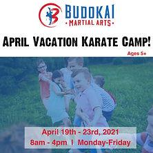 April Vacation Karate Camp Social Media