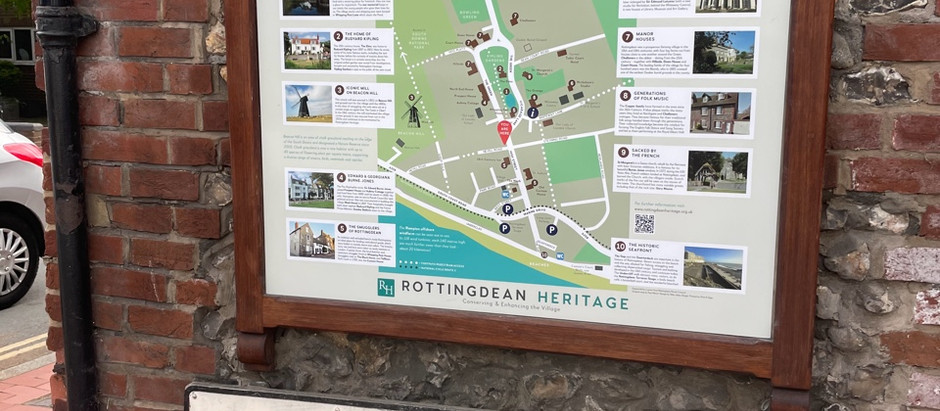 You did this! Rottingdean Heritage Members help Village Map Project.