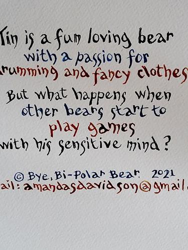 'Bye Bi-Polar Bear' - Back Cover