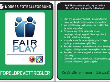 Foreldrevett og fair play!