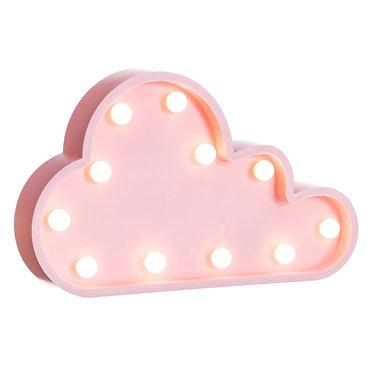 Lampe déco nuage rose