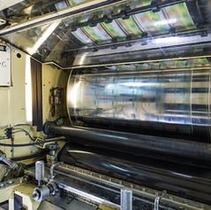 Форма для глубокой печати в работающей машине