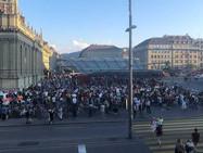 Протестная акция в Берне против расширения действия Covid-сертификата