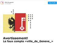 Аккаунт города Женевы в Instagram подделали