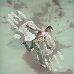 Летающий человек (мечта о полете). Ганс Эрни, 1945