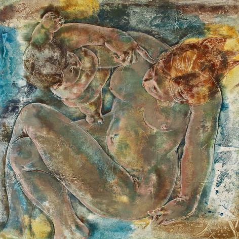 Мать и ребенок. Ганс Эрни, 1964