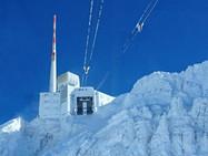 Лазерный громоотвод на вершине Сентис