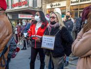 Митинг в Женеве: «Все на борьбу с антиковидными санкциями!»