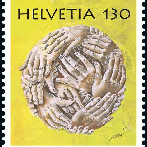 Почтовая марка с произведением Ганса Эрни. 2009