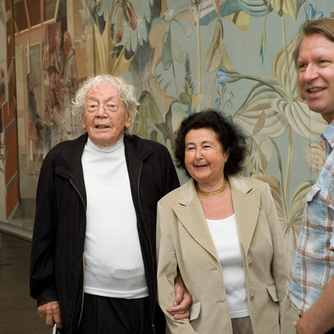Ганс и Дорис Эрни и директор музея Петер Фишер. Фото: Приска Кеттерер
