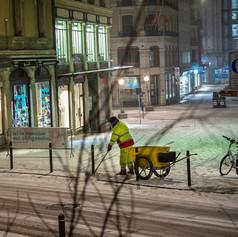 Снегопад в Женеве. Февраль 2021г.