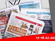 Обзор воскресной прессы Швейцарии (17-18.07.2021)