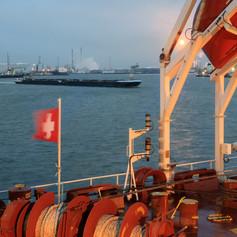 Сухогруз Молезон в порту Антверпена