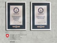 Две швейцарские монеты в Книге рекордов Гиннесса