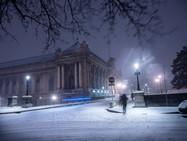 Снегопад в Женеве