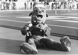 The Duke Dog mascot through the decades