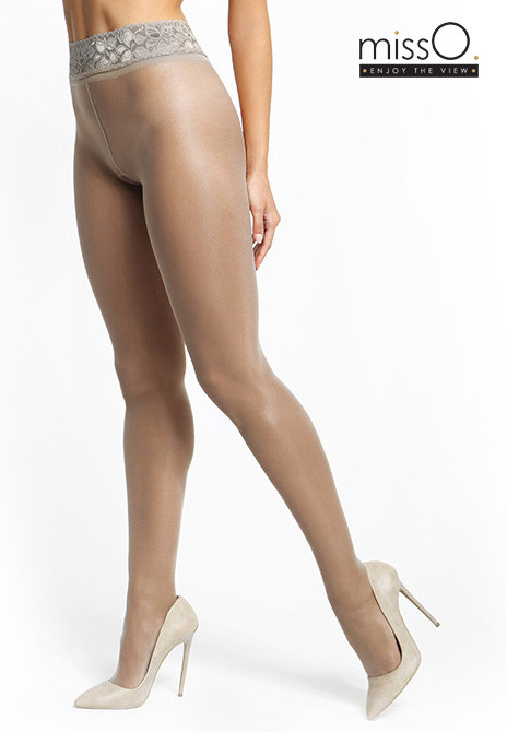 c958275d3490f missO Crotchless 20 Denier Shiny Tights with waistband (6 Shades)