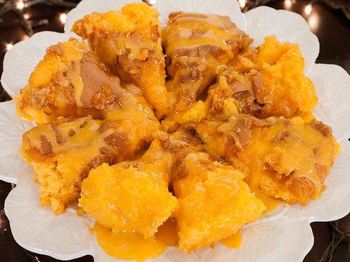 Pão de ló com doce de ovos- 6 fatias
