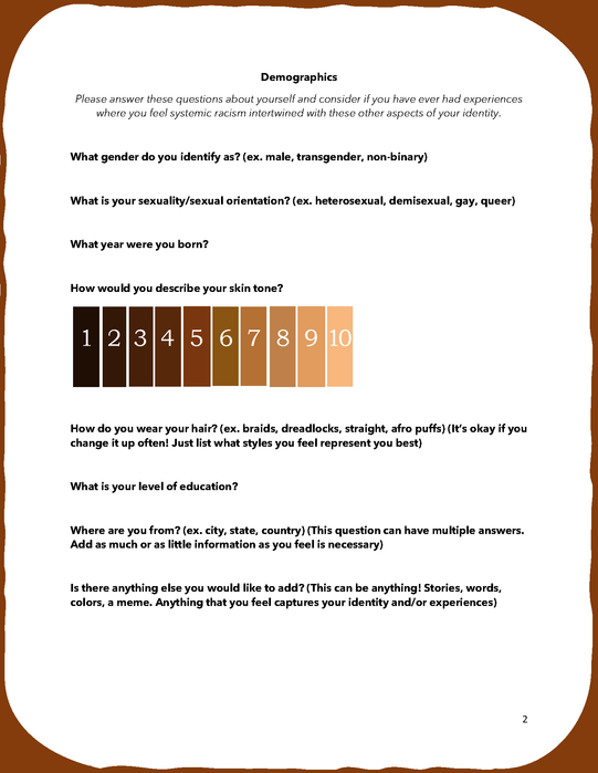 Systemic Racism Questionnaire