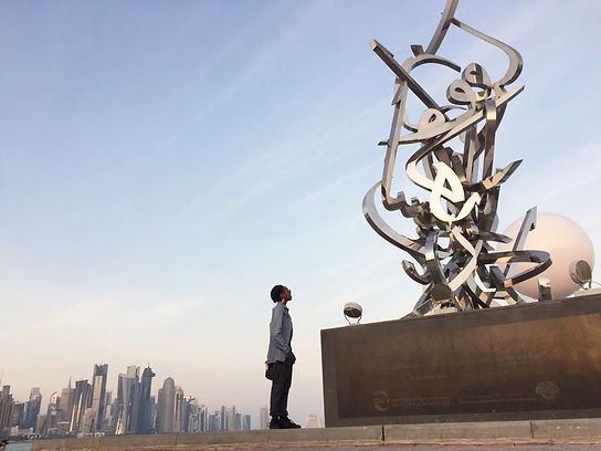 Qatar 2019 - Sculpture by Sabah Arbilli,