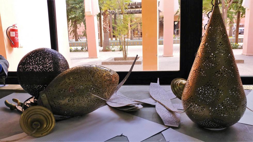 Designing Lamps in Marrakech
