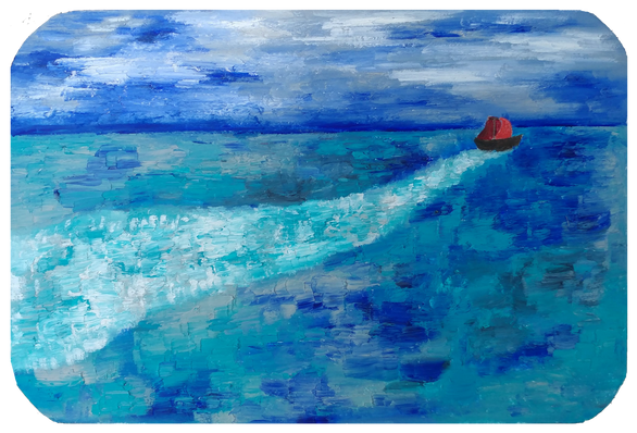 The Red Sails (Panel III)