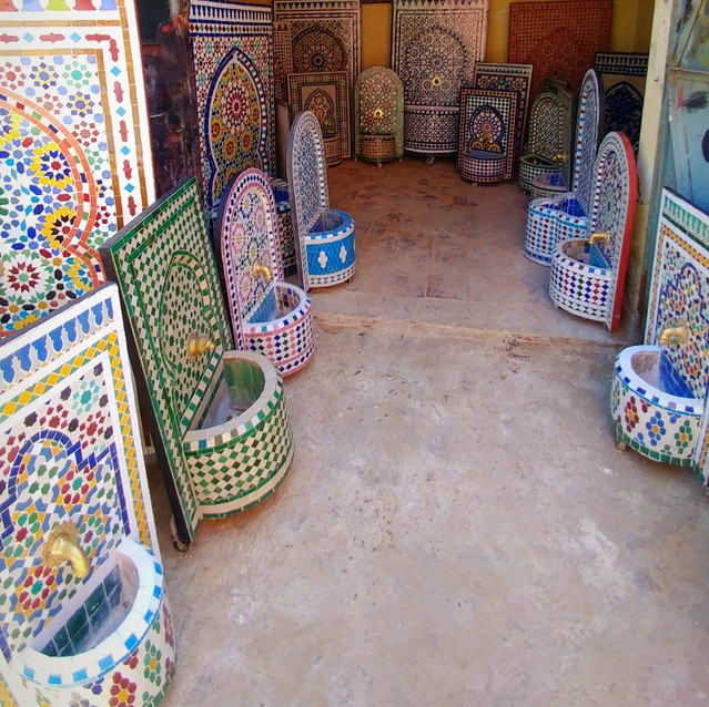 Tiled fountains