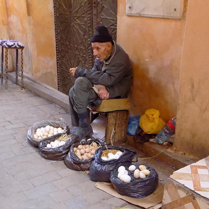 Man selling eggs