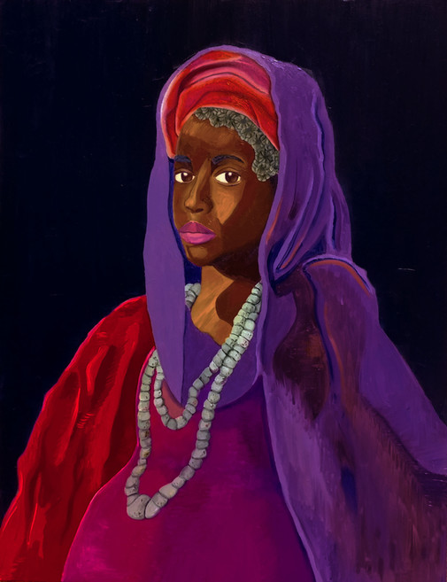 Painting of an Unknown Woman