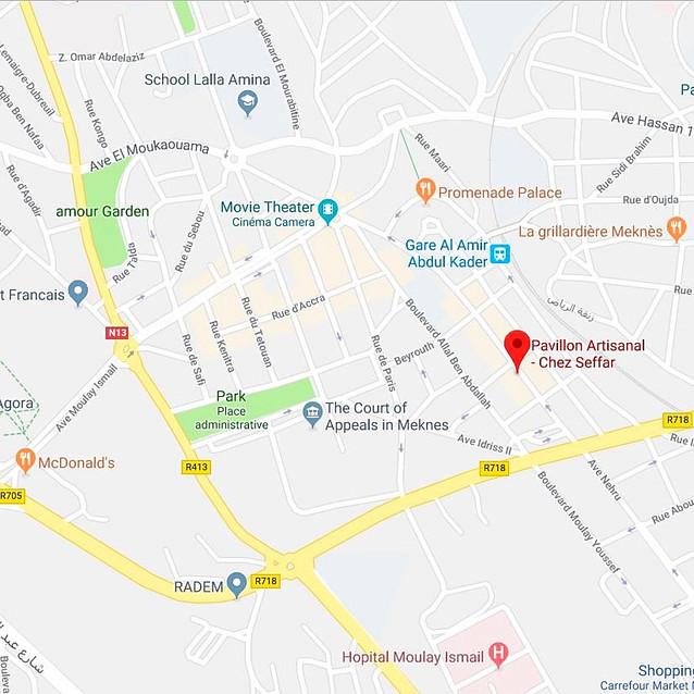 Map of Pavillon Artisinal