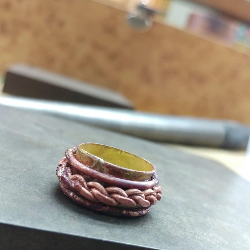 Copper & brass ring
