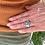 "Thumbnail: Turquoise ""Ink Mountain"" Adjustable Ring"