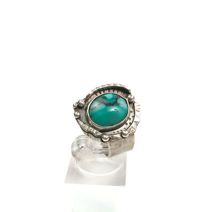 """Deep Turquoise """"Moon Rise"""" Ring"""