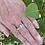 """Thumbnail: Peridot Silver Band Ring """"August"""""""