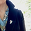 """Thumbnail: Pink Silver Tie Tac Scatter Pin """"Wings of Summer"""""""