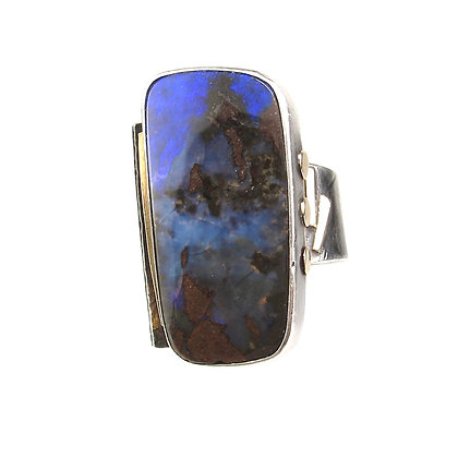 Large Opal Statement Ring 'Night Cove'