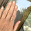 """Thumbnail: Gold Faceted Stone Silver Ring """"Harvest"""""""