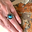 """Thumbnail: Oxidized Silver & Turquoise """"North America"""" Ring"""