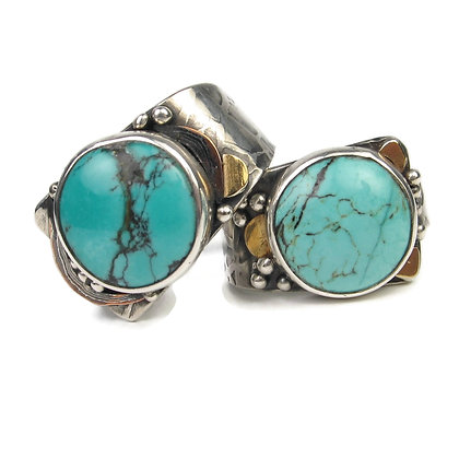 Turquoise Rings 'Delta'