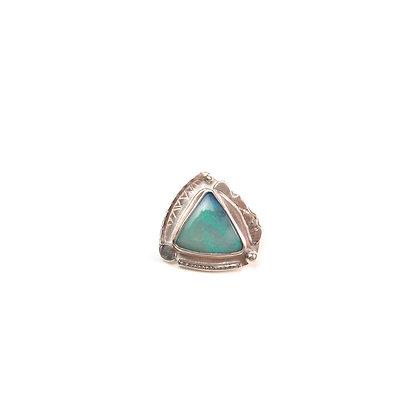 """Aqua Australian Opal """"Beach Air"""" Scatter Pin"""